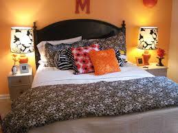 Orange And White Bedroom Black And Orange Bedroom Home Design Ideas