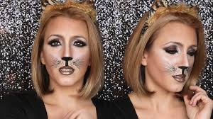 feline glam halloween makeup tutorial youtube