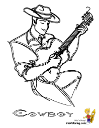 saddle up cowboy picture coloring free cowboy coloring