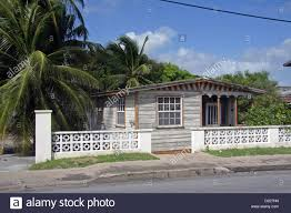 typical small simple house in barbados stock photo royalty free