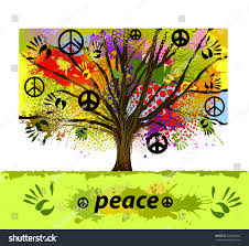 tree peace sign vector stock vector 344940542
