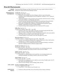 Sample Resume Customer Service Manager by Sample Resume Clothing Store Manager
