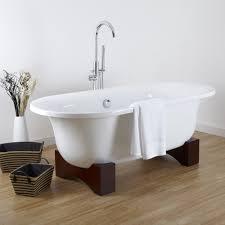Freistehende Badewanne Freistehende Badewanne Acryl Wanne Modern Mit Holz Sockel