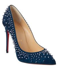 christian louboutin christian louboutin escarpic 100 spiked suede