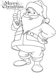 funny santa claus coloring free printable coloring pages
