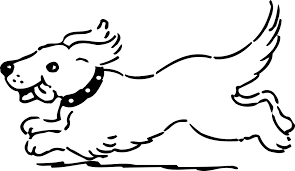 free vector graphic dog running happy tongue fast free