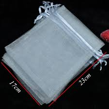 large organza bags wholesale drawable gray large organza bags 17x23 cm favor wedding