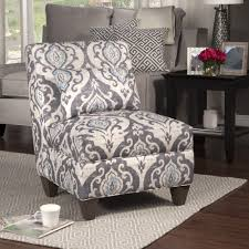 blue slate large accent chair slipper chairs pattern fabric and