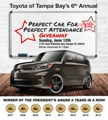 toyota th perfect car for perfect attendance toyota of tampa bay fl