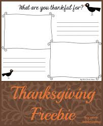 what are you thankful for a thanksgiving freebie