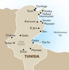 tunisia on africa map tunisia geography and maps goway travel