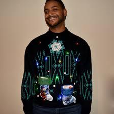 light up star wars ugly christmas sweater men u0027s large