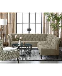 Macys Tufted Sofa by Arielle Tufted Fabric Apartment Sofa Created For Macy U0027s