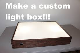 Making Wooden Table Lamps by How To Build A Light Box Youtube