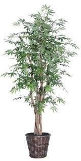 6 foot ficus tree bamboo planter pot artificial realistic plant