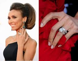 guliana rancic gums thinning hair 17 best celebrity wedding rings bands images on pinterest