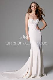 sophisticated and elegant strapless sweetheart mermaid wedding