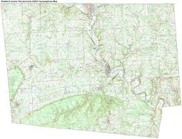 Pennsylvania Highway Map by Bradford County Pennsylvania Township Maps