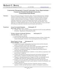 General Contractor Resume Sample by Robert C Berry Resume