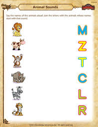 animal sounds u2013 kindergarten science worksheet u2013 of dragons