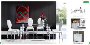 furniture modern glass dining table with extension 001 model