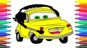 how to coloring cars 3 luigi coloring pages for kids how to paint