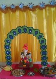 Diwali Decorations In Home Ganpati Decoration Ideas Ganpati Decorations Pinterest