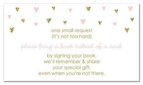 bring a book instead of a card baby shower book instead of card baby shower