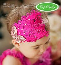 hair bands for feather baby headband hairbands hairpin christmas hair tie