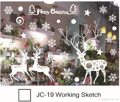 Christmas Outdoor Decorations Stores by Christmas Window Stickers Snowflake Santa Reindeer Window Display