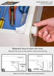 baby safety magnetic cabinet locks for kitchen cabinet doors and