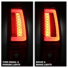 2004 silverado tail lights 03 06 chevy silverado gmc sierra v2 led tail lights red smoked