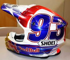 redbull motocross helmet offroad atv quad gear painted shoei custom s pinterest painted red