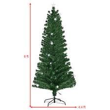 goplus 8ft pre lit fiber optic artificial tree w