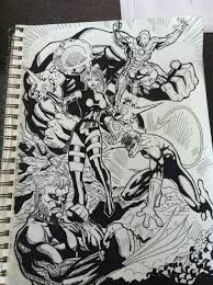 some more artwork x men ink and sketch benny crew studios