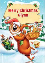 yogi bear personalised yogi bear christmas card