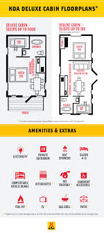 cabin floorplan cabin and vacation rentals deluxe cabin cing koa cing