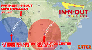 Map Dallas In N Out U0027s New Dallas Distribution Center Means It Could Expand To