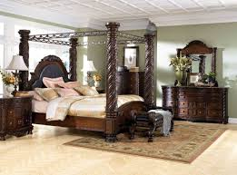king poster bedroom set design by ashley new haven 5 piece king poster bedroom set with 2nd
