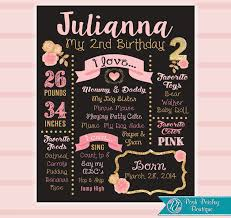 birthday board second birthday chalkboard 2nd birthday board second