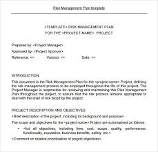 doc 484566 business risk management plan template u2013 doc484566