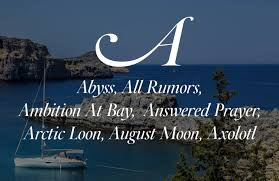 best boat names ever list from a to z clever ideas for cool