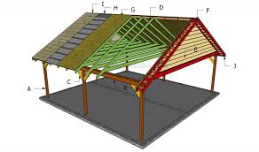 Free Plans How To Build A Wooden Shed by How To Build A Double Carport Howtospecialist How To Build