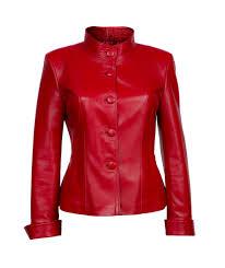 female leather jacket model 141 red u2013 richi