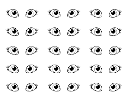 drawn eyeball printable pencil and in color drawn eyeball printable