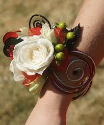 Prom Wrist Corsage Ideas White Rose Prom Corsage Prom Flowers In Bowerston Oh Lady Of