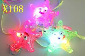 starfish led light necklace pendant creative birthday