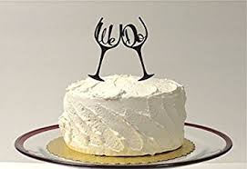 glass wedding cake toppers wedding cake topper we do inside toasting wine glass