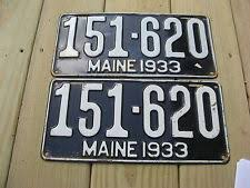 Maine State Vanity Plates Collectible Maine License Plates Ebay