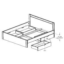 bettrahmen 100x200 vollholz schubladenbett schubkastenbett funktionsbett weiss